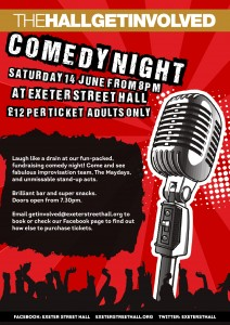 Comedy Night - 'Laugh Like a Drain'  - a Fundraiser for Exeter St Hall