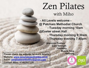 Zen Pilates with Miho (Morning)