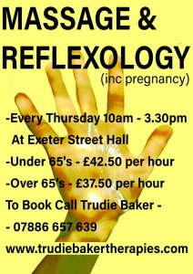 Massage and Reflexology Sessions